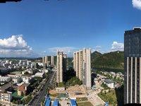 房东急售,城东尚公馆精装修单身公寓,边套有外阳台,最好楼层的景观房