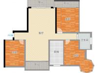 首付30万左右买碧桂园131平的大三房房屋产权清晰户型很好3阳台 满五唯一急售!
