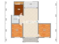 经开区米兰春天毛坯三房,满五唯一,单价超低,南北通透 户型完美 随时看房