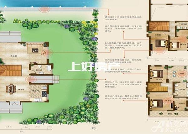 桃花岛 稀缺一线江景 独栋别墅 沿河 院子基本上200平 可扩建 送车库 税少
