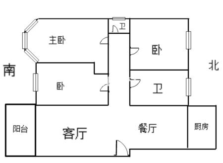 城东 世贸绿洲多层黄金楼层,大三房 零公摊,户型方正,通透全明户型 有钥匙