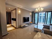 恒大滨江左岸 精装修3室 带地暖 首次出租 家具家电齐全 看房方便 拎包入住