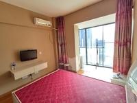 城东利港尚公馆一线江景房精装修单身公寓视野绝佳,电梯好楼层
