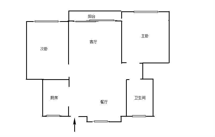 出租 栢景雅居精装两房 南北通透 好楼层 家具家电齐全拎包入住九小陪读房