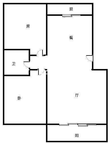 出租黎阳水街旁秀水豪园 简装2房 中间楼层 南北通透 家具家电齐全拎包入住